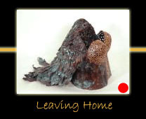 leaving home copper sculpture by canadian sculptor hilary clark cole