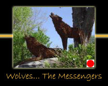 wolves the messengers steel sculpture by canadian sculptor hilary clark cole